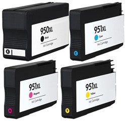 HP 950XL & 951XL Compatible Ink Cartridge 4-Pack Color Set C2P01FN - With New Chip - American Toner Supply