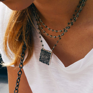 Druzy Necklace - Square