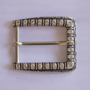 Silver Bold Bling Buckle
