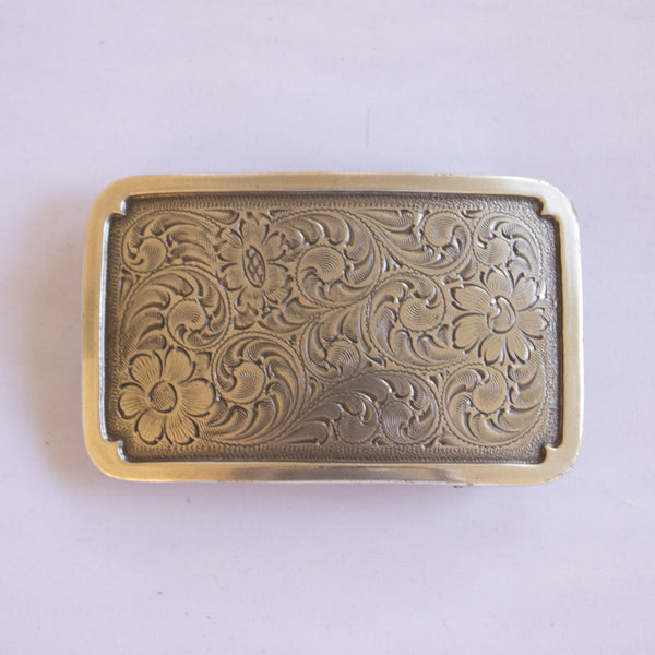 Polished Silver Floral Buckle