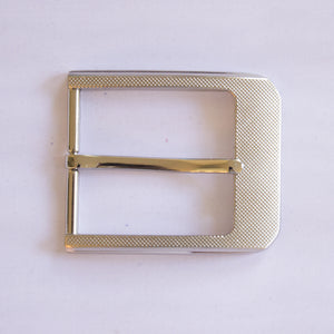 Etched Silver Buckle