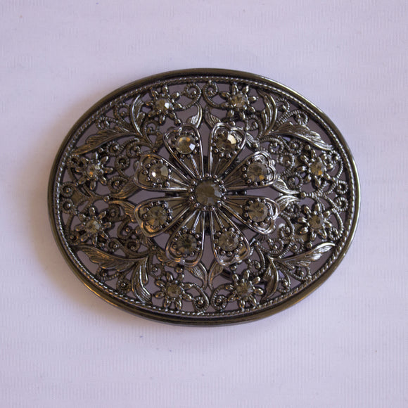 Filagree Floral Oval Buckle