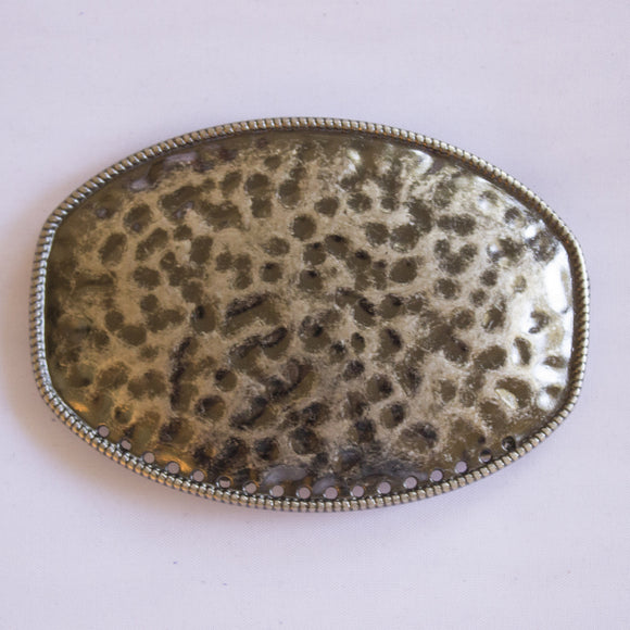 Antiqued Silver Hammered Buckle