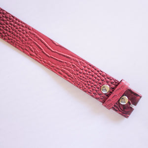 Alligator Strap - Red
