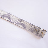 Snake Print Strap - Light Grey