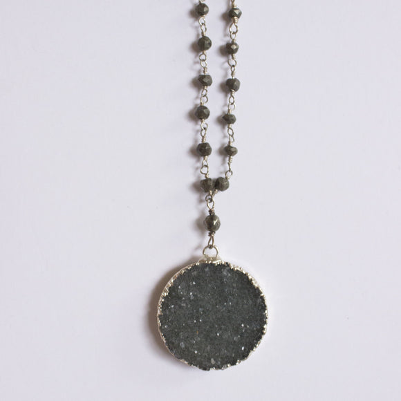 Druzy Necklace - Circle