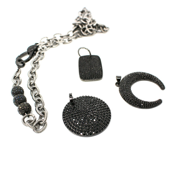 ball and chain necklace with attachable charms