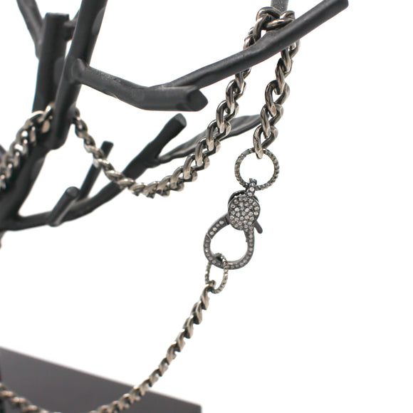 Chain Link Necklace with Embellished Clasp