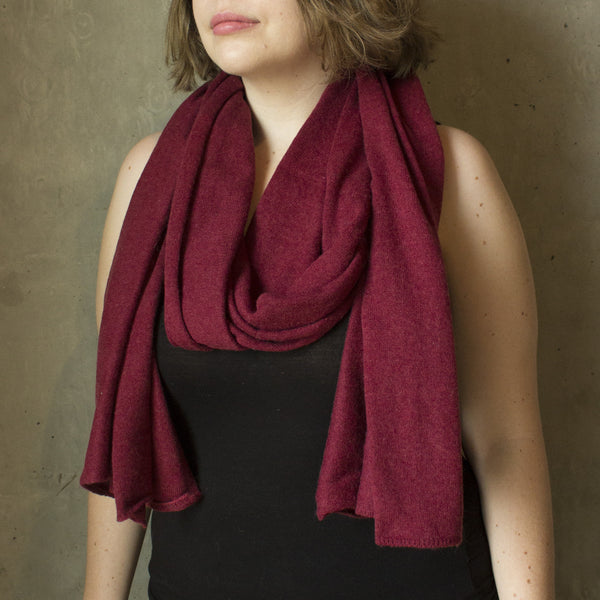 Deep Red Scarf