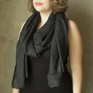 Dark Charcoal Cashmere Scarf
