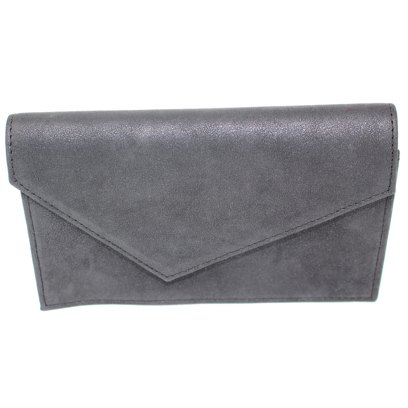 pewter color mini bag great for everyday use