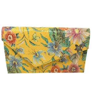 hiptini minibag in yellow with spring flowers purse