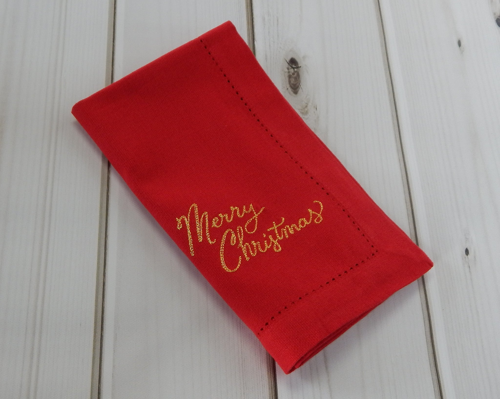 MERRY CHRISTMAS GOLD - French Press Linens