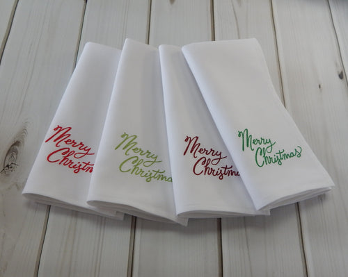 MERRY CHRISTMAS MULTI COLOURED - French Press Linens