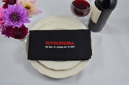 Novinophobia -  The Fear Of Running Out of WINE - French Press Linens