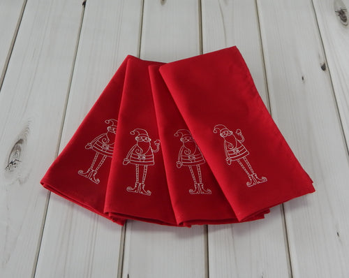 SANTA ON RED - French Press Linens