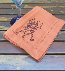 DANCING SKELETONS - French Press Linens