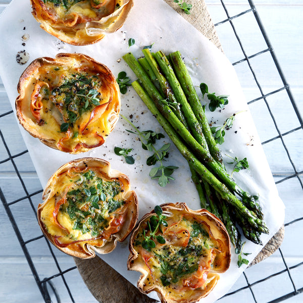 Mini Wrap Pies with Pancetta and Rocket