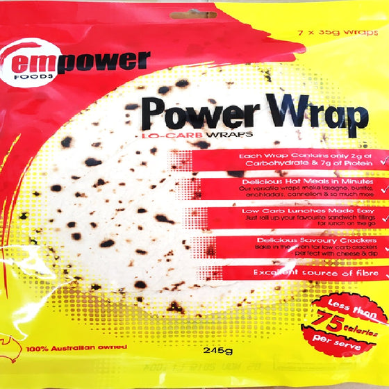 Empower Foods Power Wraps.. NOW WITH NEW RESEALABLE BAG