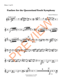 Dickenson — Fanfare for the Queensland Youth Symphony (2012) — Complete Score and Parts