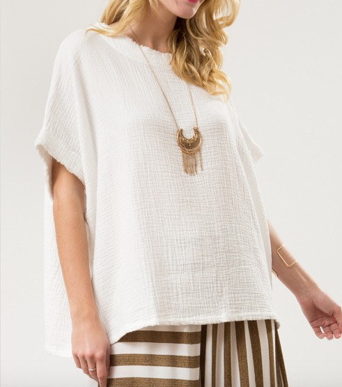 Square Shaped Top - White