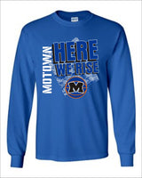 Moravia Basketball Here We Rise Long Sleeve Tee