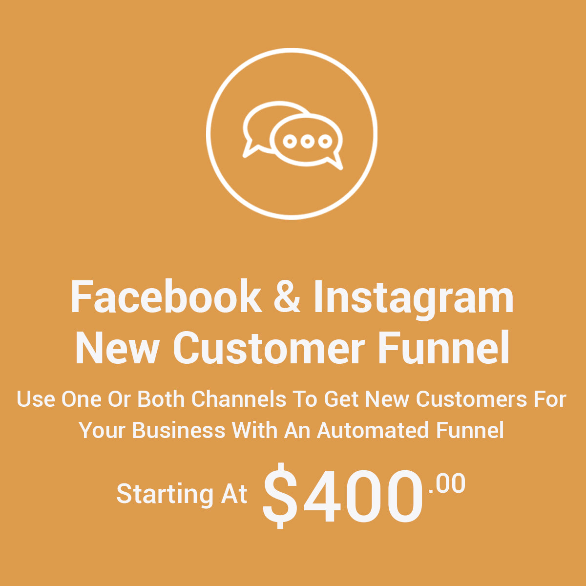 Facebook & Instagram New Customer Acquisition Funnel