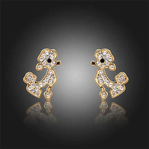 18K Gold Plated Crystals Earrings