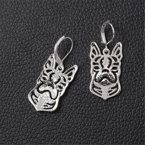 1pair  Boston Terrier Earings
