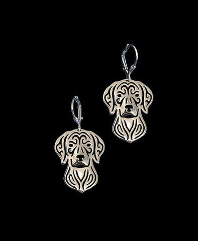 18 K Gold Plated Doggy Earings
