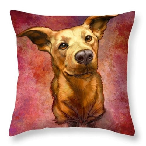 6 Painted Dog pillow case