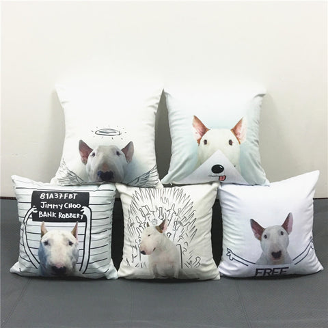Bull Terrier Dogs Cushion Covers