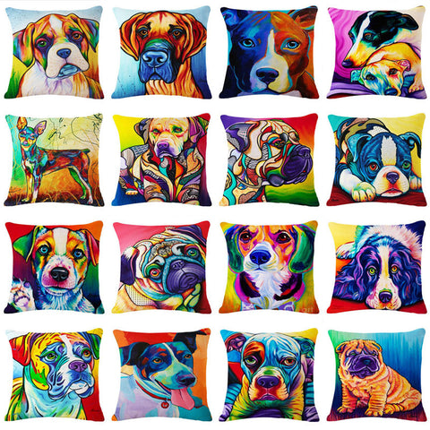 Coloured Doggy Pillowcases