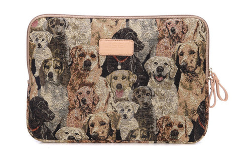 Fashion 11,13,15 inch Cute Dogs Design laptop bag or iPad