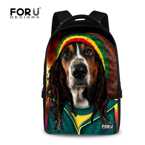 7 types hippy  Dog Backpacks School Bags