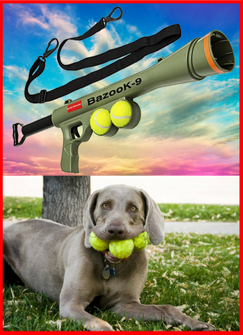Bazook k-9 Dog ball Shooter NEW 2 ball holder
