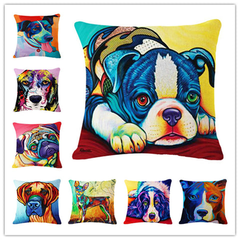 8 Printed Doggy Pillow Case