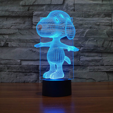 Snoopy 7 colour led lamp