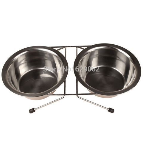 Stainless steel Dog Bowl + Water Bowl
