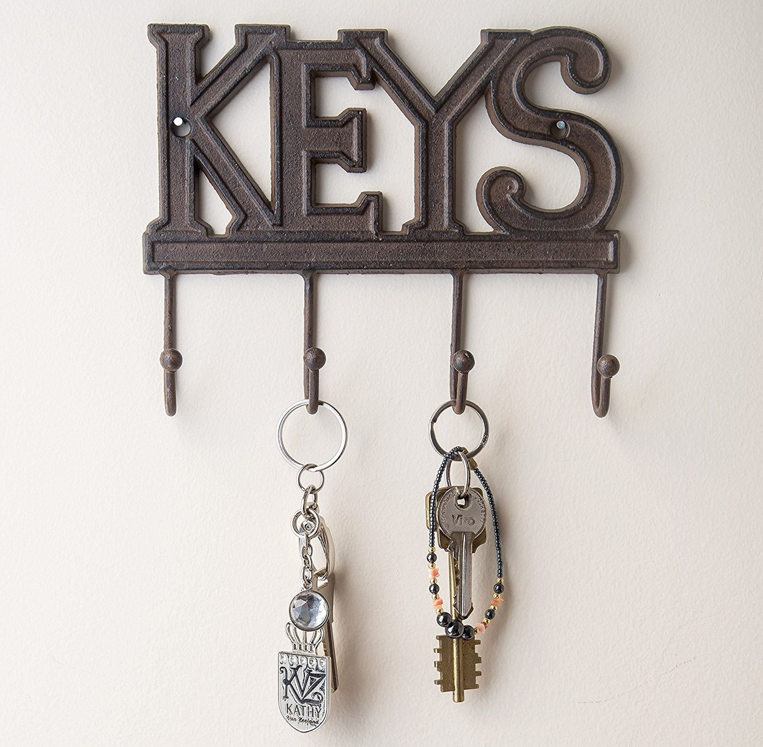 decorative cast iron wall mounted key holder