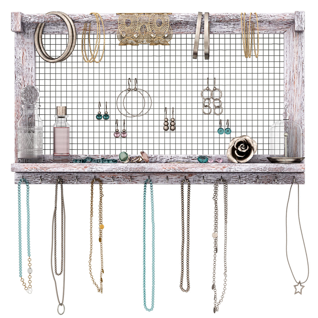 wire-screen-jewelry-display-organizer-wall-mount
