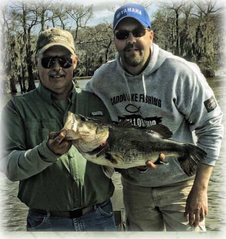 Bass fishing on Caddo Lake