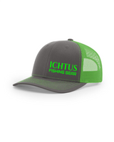 Trucker Snap Back Fishing Hat  (neon green) SOLD OUT
