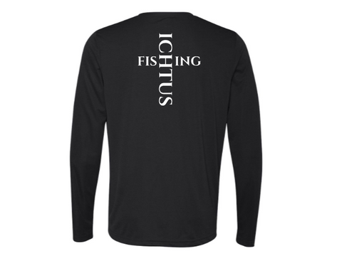 Long Sleeve Perfomance Tee Bass logo (black)
