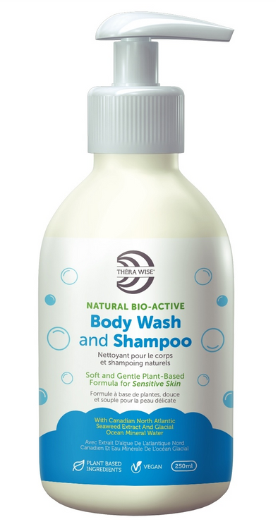 Natural Bio-Active 2 in 1 Shampoo & Body Wash, 250ml - Thera Wise