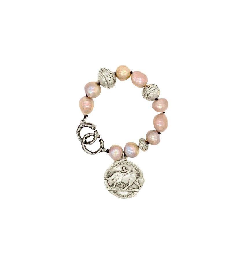 Lady of Guadalupe Baroque Pearl Bracelet