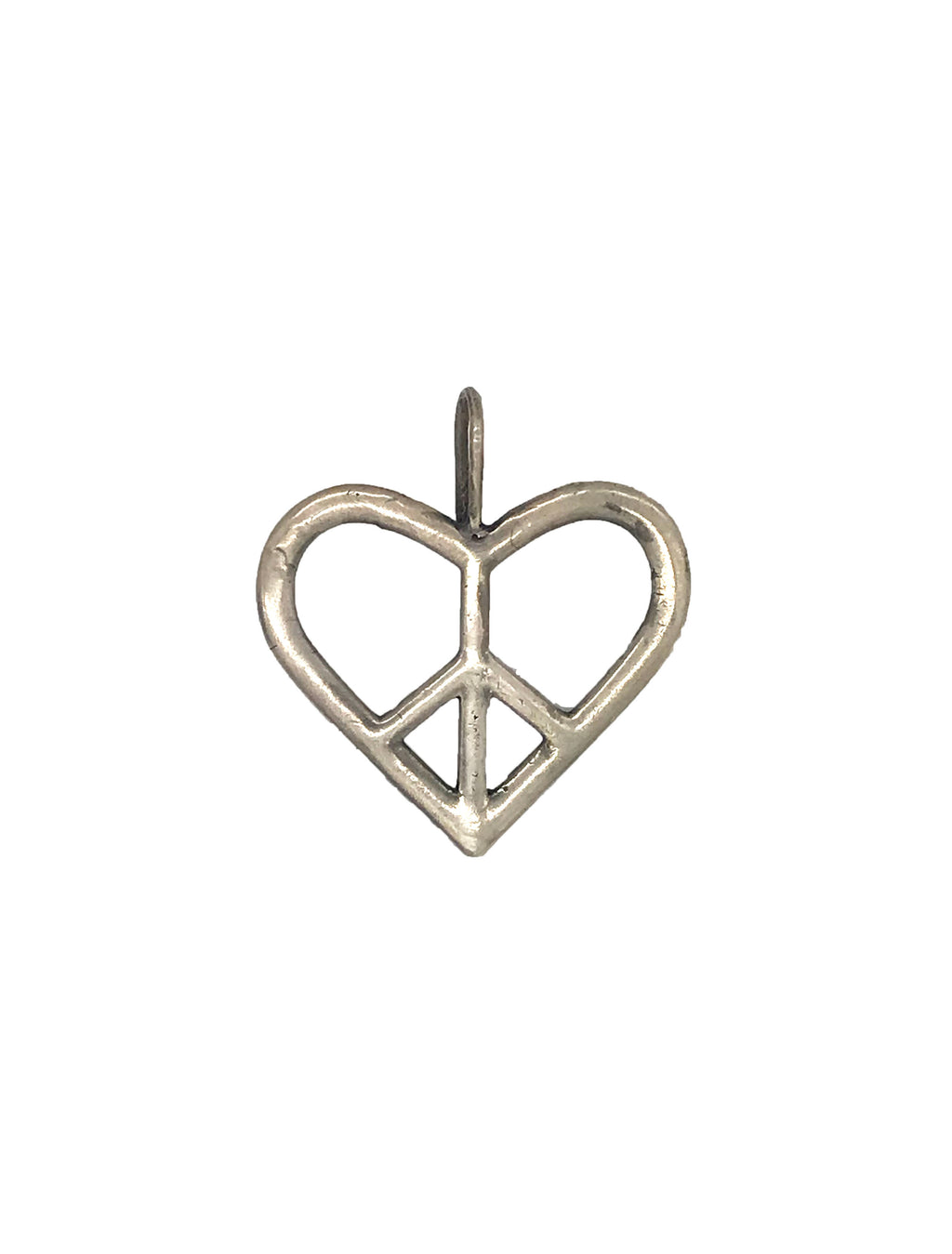 Heart Shaped Peace Sign Pendant