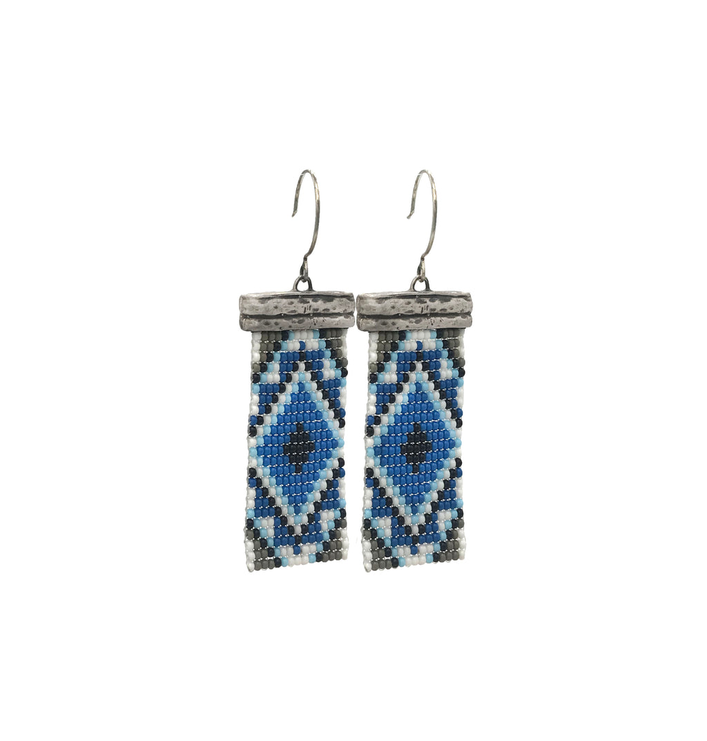 Loomed Diamond Earrings