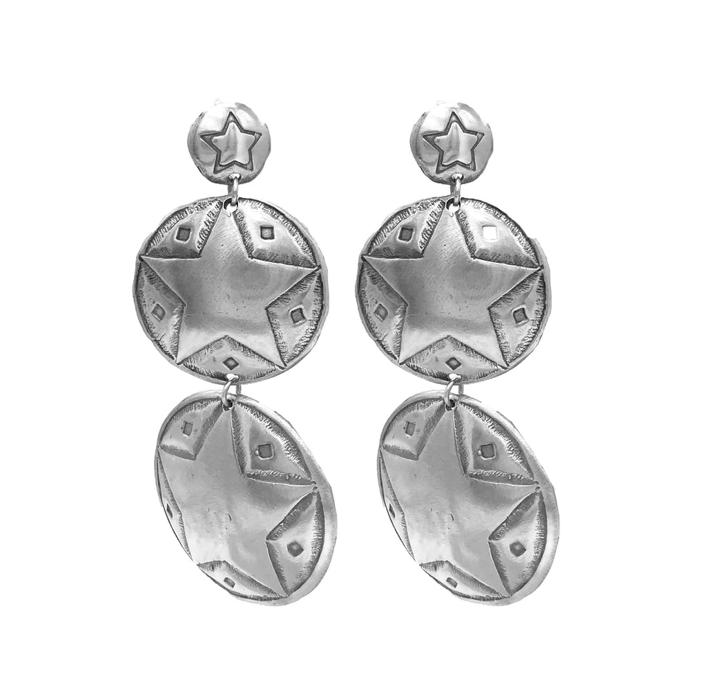 Triple Star Concho Earrings