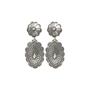 Flower Concho Earrings